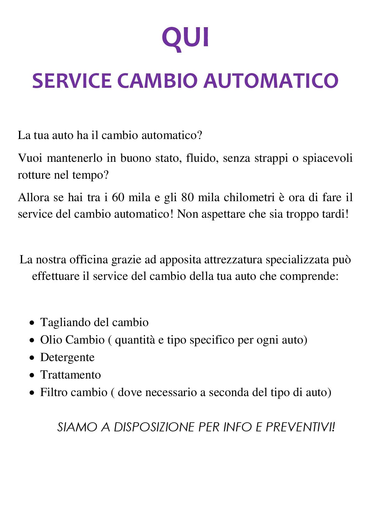 QUISERVICE CAMBIO AUT-001